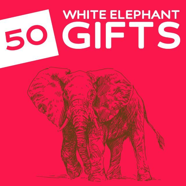 50 Hilariously Wacky White Elephant Gifts- under 15 dollars. These are some great ideas for any White Elephant Gift Exchange.