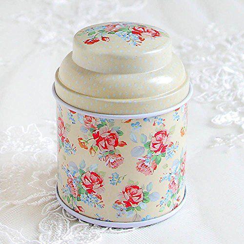 HuntGold floral joint double couche chariot à thé boîte de bonbons conteneur ménager(jaune): C'est un conteneur de stockage de nourriture…