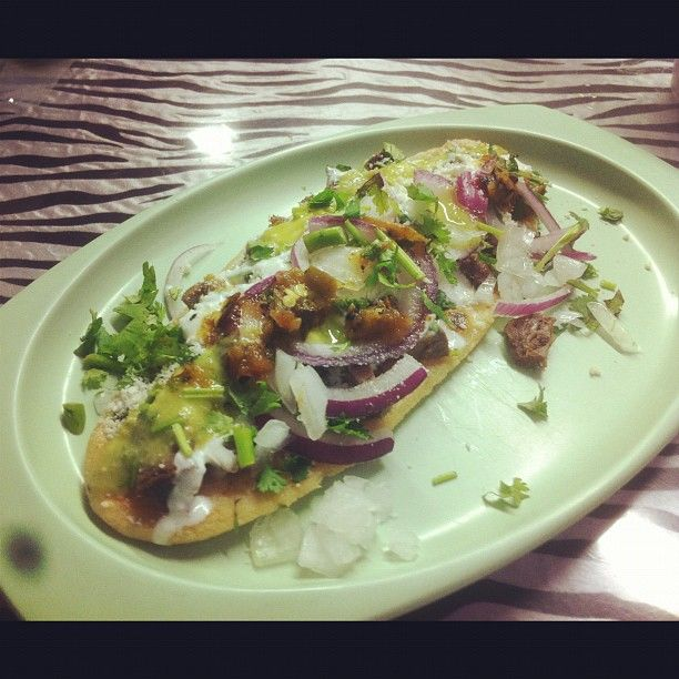 El Huarache Azteca is a Latin American Restaurant in Los Angeles, CA, USA popular with Students, LGBT, Skaters