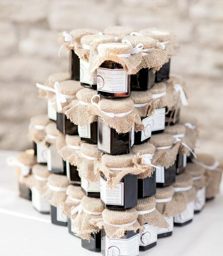 Verpackungsideen für Hochzeitsmarmelade als Gastgeschenk