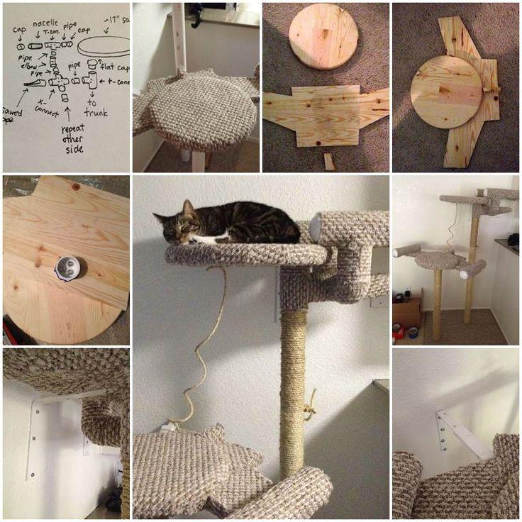 DIY Star Trek Cat Tree