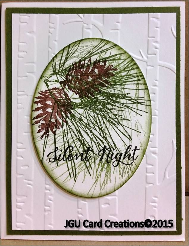 Card Making Ideas Christmas Stampin Up Part - 46: Christmas Card Using Stampin Upu0027s Woodland Embossing Folder , Pine Stamp  Set And The Words Are