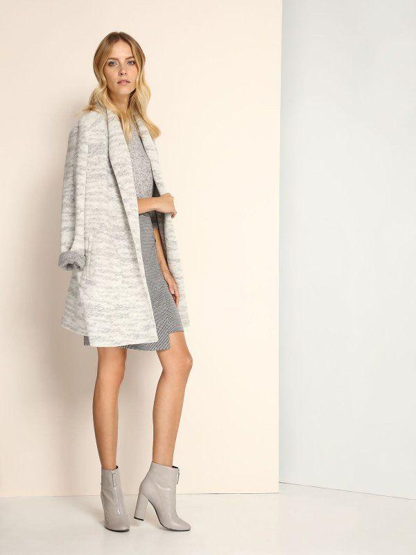 свитер с длинным рукавом  серый - SSW2058 TOP SECRET