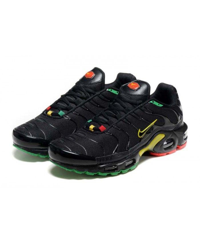 super mignon 359b5 dfd7b Homme Nike Air Max TN Noir Jaune Chaussures | Nake в 2019 г ...