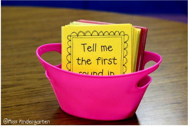 Miss Kindergarten: Transition Task Cards!