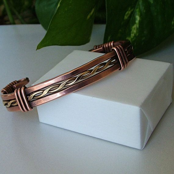 Unisex Oxidized Wire Wrapped Solid Copper and by KDTwistedElements, $59.00