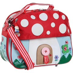 Adorable mushroom purse by Oilily. It even comes with a cute little gnome on the zipper pull! $142.00