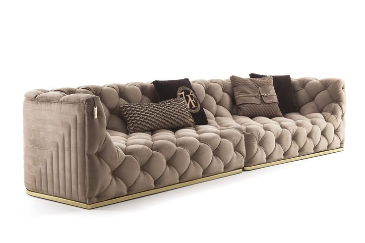 An example of all-round button tufted upholstery: a finely original interpretation of an ancient craft ...