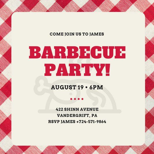 14 best invitation inspiration images on Pinterest Barbecue - bbq invitation template
