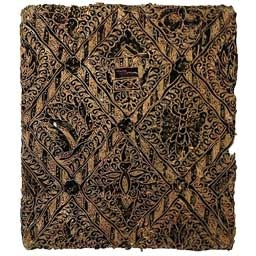 Antique Copper Indonesian Batik Tjaps (Chops) Diamond Pattern - rare and beautiful artwork for your walls