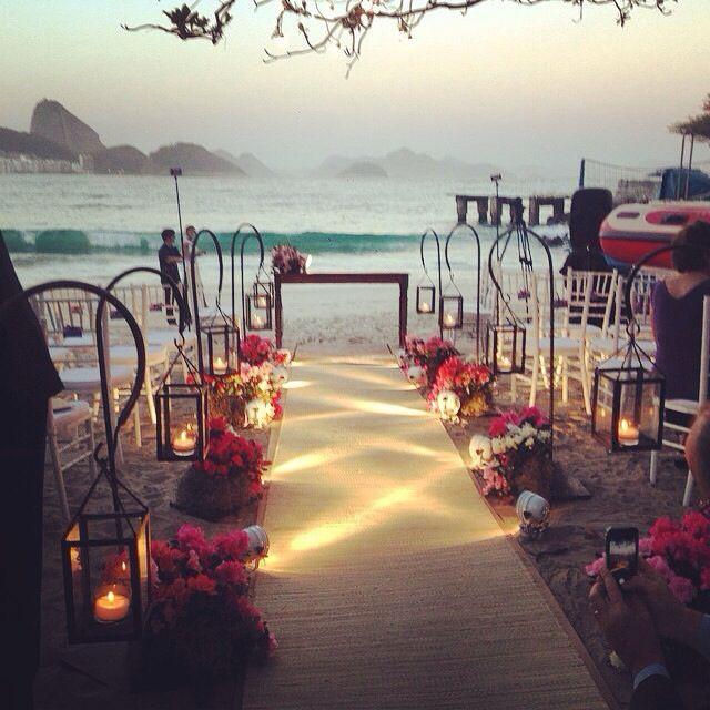 Casamento na praia de Copacabana, Rio de Janeiro - RJ.
