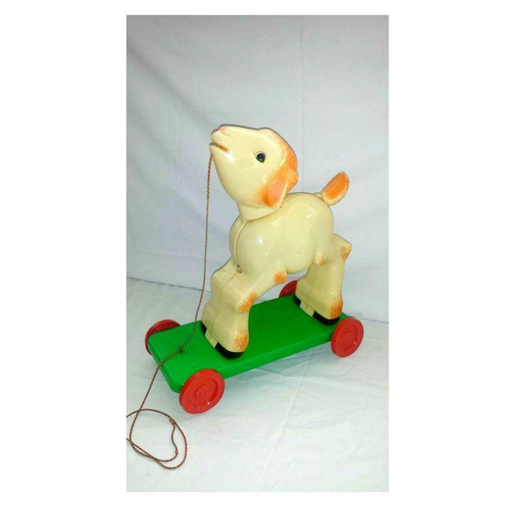Knickerbocker Plastic Company Lamb Pull Toy, Vintage Hard Plastic Animal Pull Toy, Vintage Pull Toy, Knickerbocker Lamb,Circa 1940s -1950s by JunkYardBlonde on Etsy