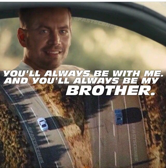 Fast And Furious 7. Right in the feels.