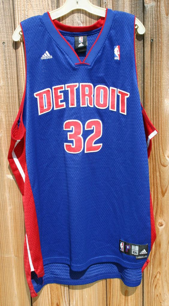 Size 2X Detroit Pistons Number 32 Richard Hamilton Shooting Guard Small Forward 02-11 Season Adidas NBA Jersey Great Condition!