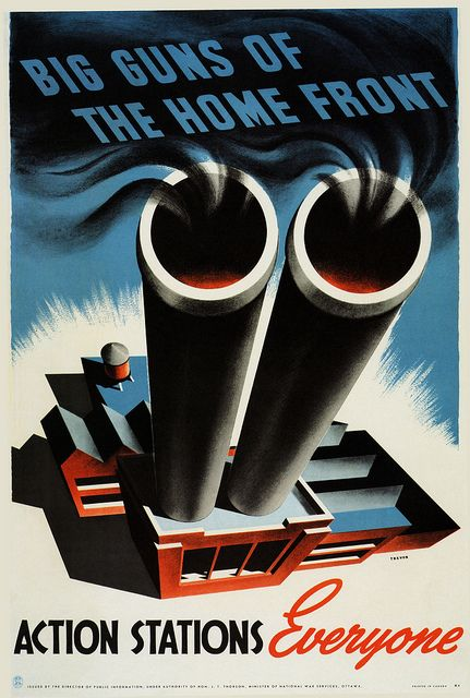 Canadian WW2 poster: in the years prior to the USA entering the war, Canada was the main supplier of arms and other war materials to Britain.