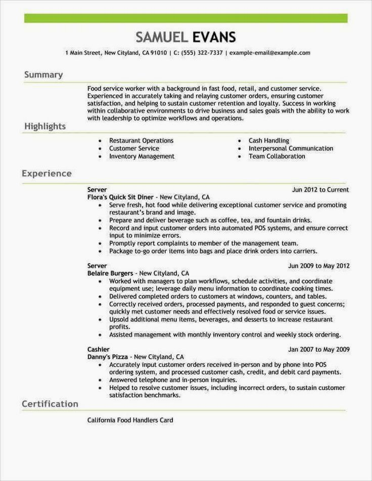 Resume Formats – Jobscan Free Resume Examples by Industry ...