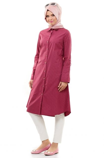 Loreen Tunik-Koyu Bordo LR1621-36