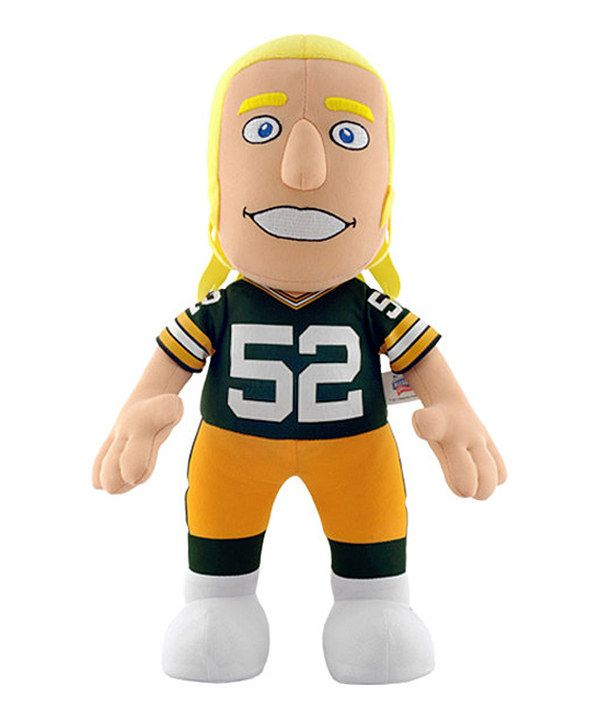 Look what I found on #zulily! Bleacher Creatures Green Bay Packers Clay Matthews Jr. Plush Toy by Bleacher Creatures #zulilyfinds