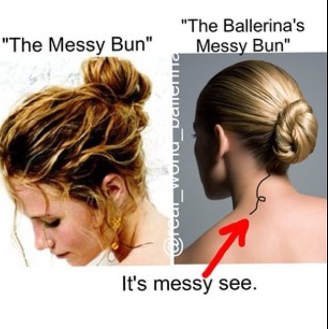 Me and my friends were talking about this today in p.e. She had the perfect messy bun and I tried it and she said it looked neat