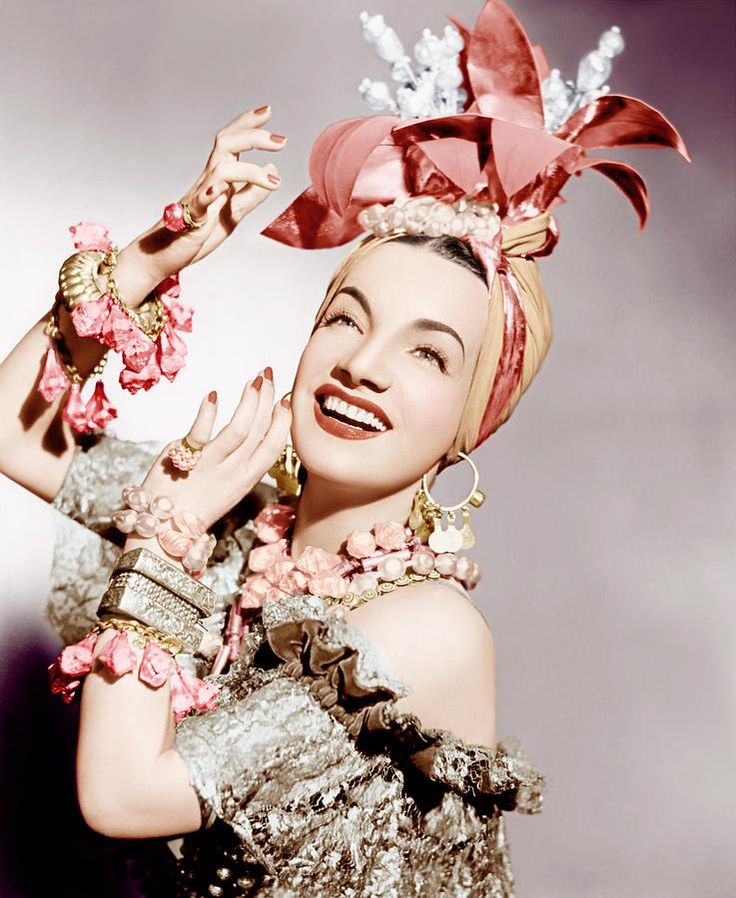 Beautiful and talented Carmen Miranda, Early 1940s Photograph