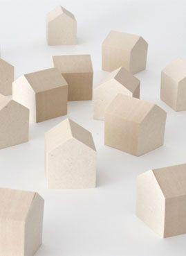 Naruse Inokuma Architects house-shaped sticky notes!