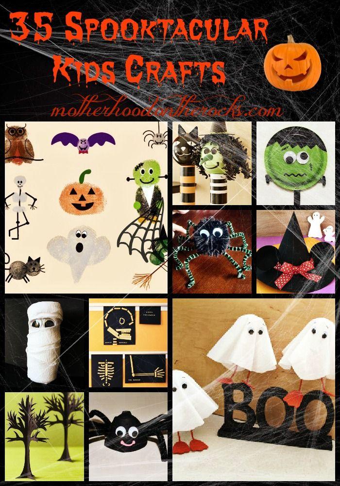 35 Halloween #kidscrafts from Motherhood on the Rocks. So cute!
