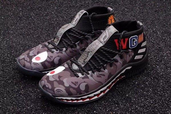 2cdec7cd5 Authentic BAPE x adidas Dame 4  Black Camo  AP9974
