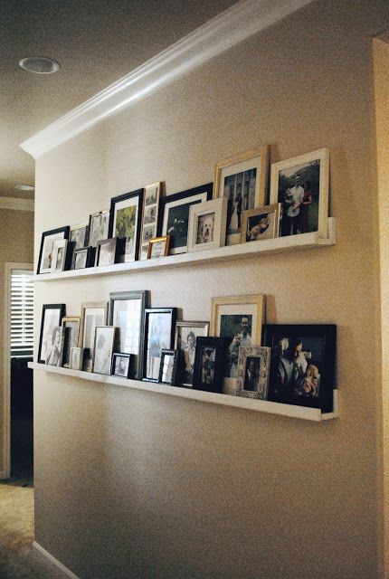 Picture ledge step by step and pictures on pinterest - Shelving for picture frames ...