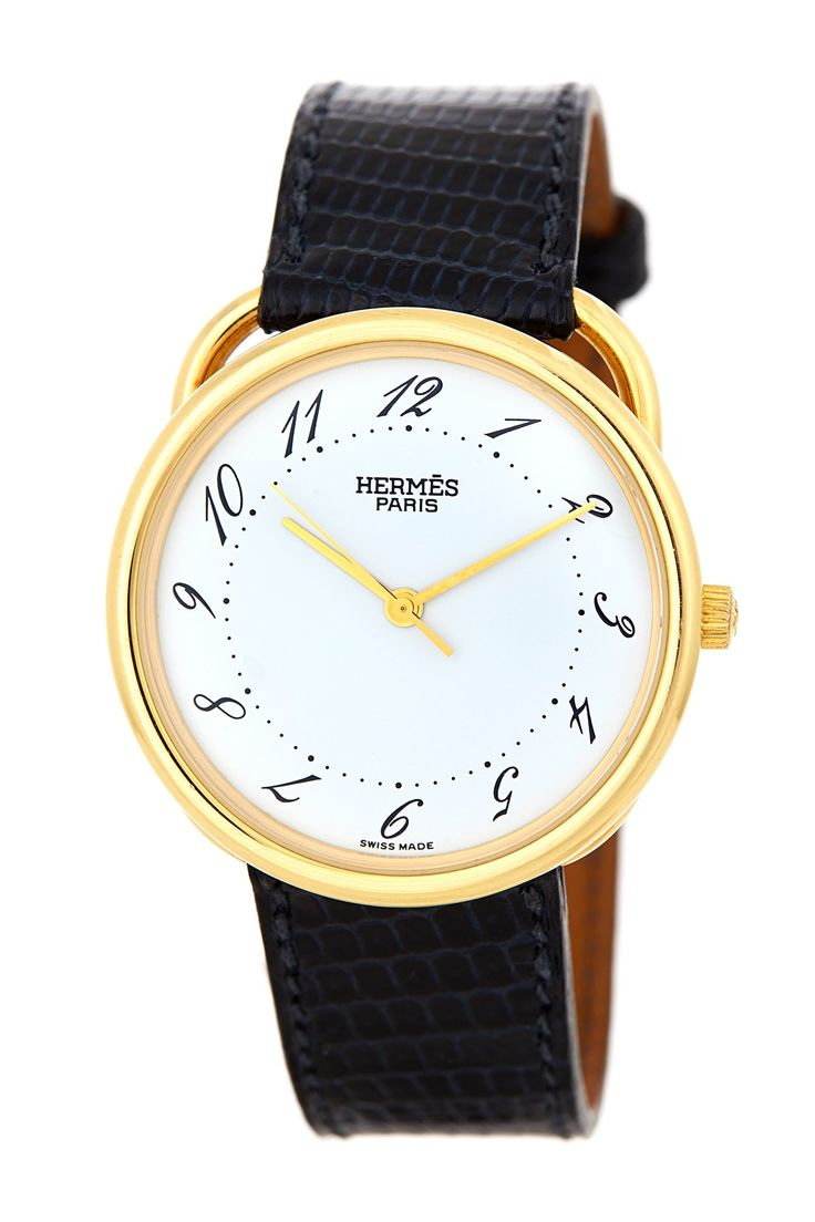 Hermes Men's/Unisex Arceau 18k Yellow Gold Watch//
