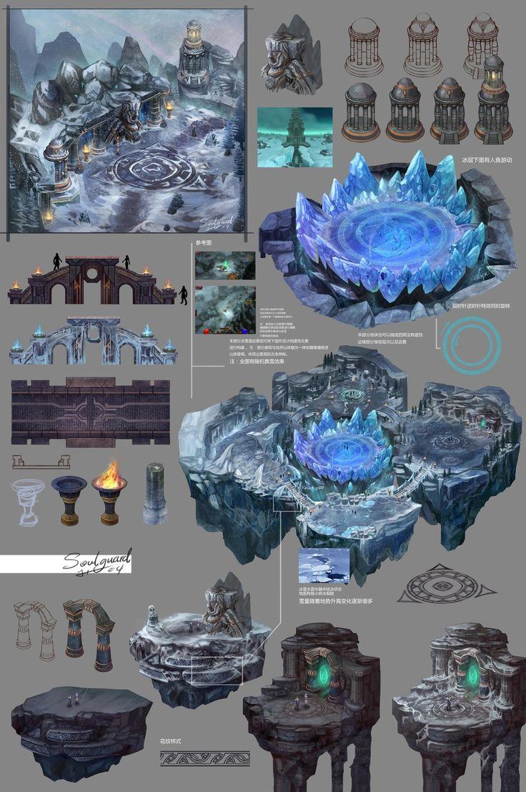 《Ares dawn》Environmental design 1, Hou Yu on ArtStation at https://www.artstation.com/artwork/2dKme