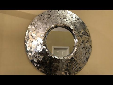 Clever Idea! - Silver Metallic Decorative Wall Mirror - most supplies from Dollar Tree. YouTube