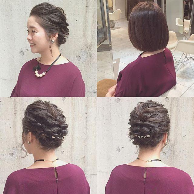 hairarrange* * bob * 右上Before * hairarrange ヘアアレンジ ヘアセット