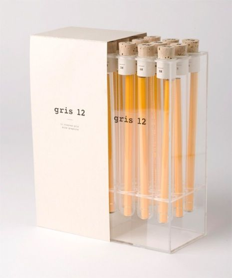 kevin angeloni // packaging for 12 pencils as if they were luxury items