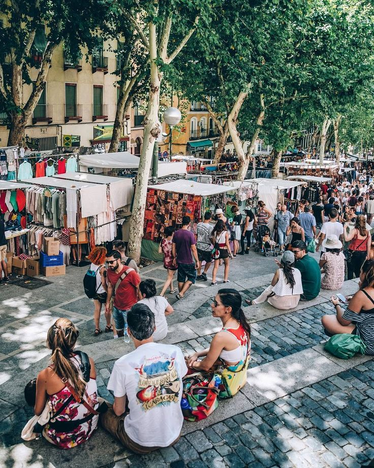 El Rastro is the most popular open air flea market in Spain. It is held every Sunday and public holiday during the year and is located between Calle Embajadores and the Ronda de Toledo (just south of La Latina metro station and Puerta de Toledo station).  Madrid Spain
