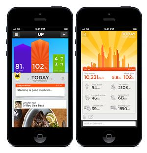 Check out the Jawbone Up's colorful and accurate smartphone app, http://goodnightgadgets.com/sleep-and-fitness-gadgets/up-by-jawbone/