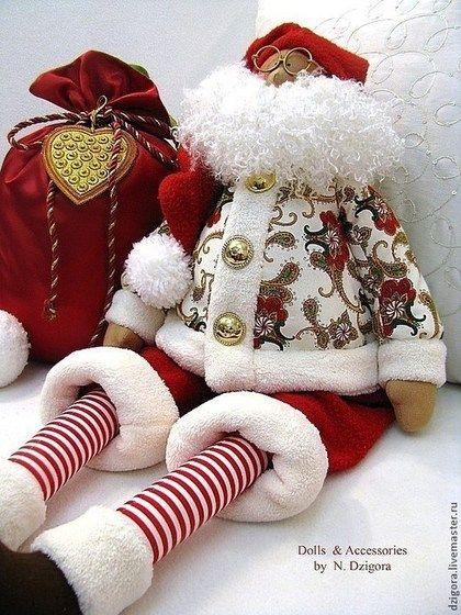 Новый год 2015 ручной работы. Ярмарка Мастеров - ручная работа Санта с большим мешком. Handmade.