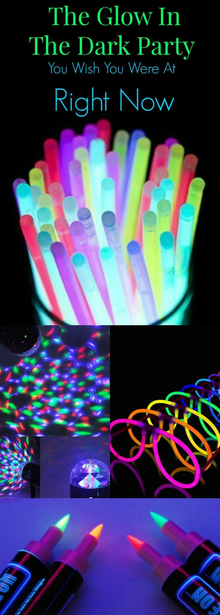 Throw the HOTTEST Glow in the Dark party ever with these ideas and supplies! This will be THE party of the year!