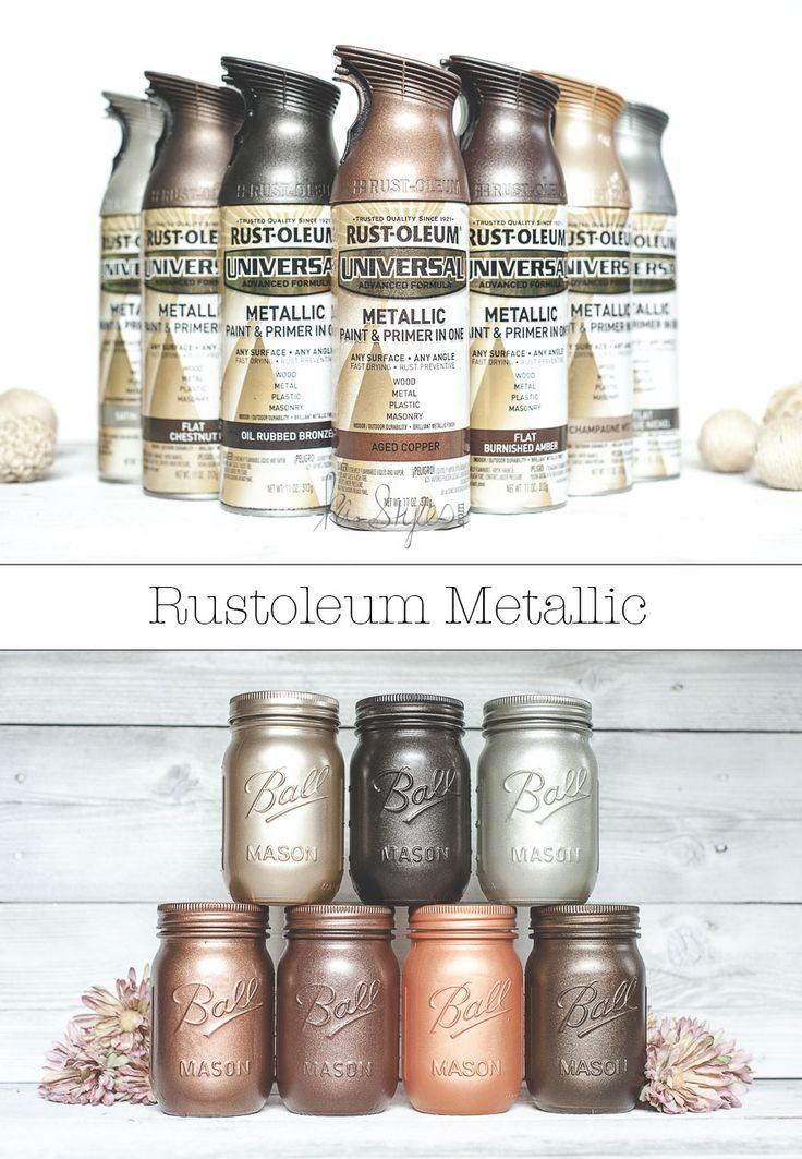 Rustoleum metallic spray paint colors. More
