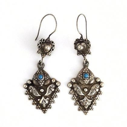 Cercei afgani argint și turcoaz  #metaphora #cercei #afganistan #turcoaz