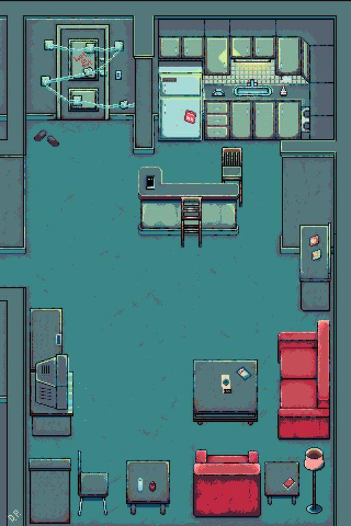 Room 302 (Silent Hill 4)[OC][NEWBIE] : PixelArt