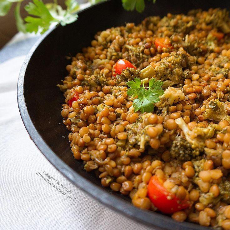 Lentejas con brócoli Batch Cooking, Chana Masala, Healthy Recipes, Healthy Food, Yummy Food, Ethnic Recipes, Diabetes, Diet Ideas, Gluten
