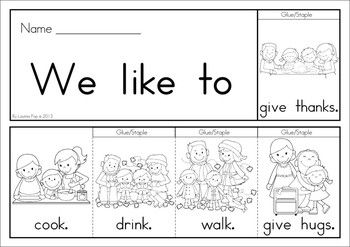 FREE Thanksgiving Flip Book (colored & black and white). Includes a journal / writing sheet. Great for kindergarten and first grade children. Fantastic paper saving idea - a little booklet made from just one piece of paper!