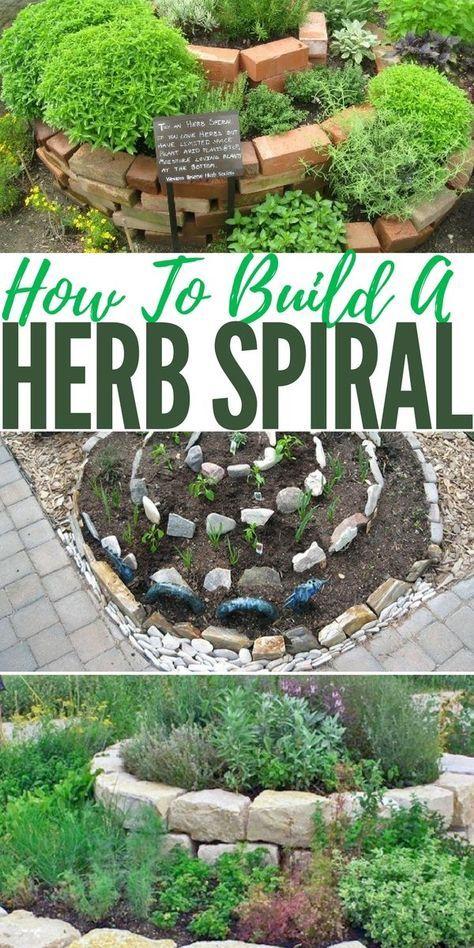 How To Build A Herb Spiral Herb garden design, Herb