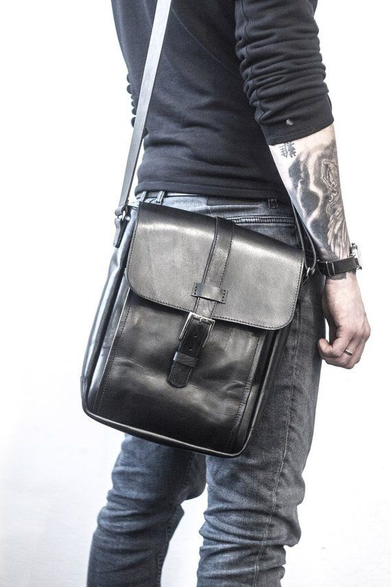 Men Messenger Bag Leather Crossbody Shoulder Small