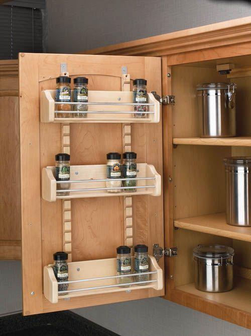 Diy projects spice rack, Kitchen spice storage and Kitchen spice rack design. Spice racks for cabinets, Door spice rack and Best spice rack. #Spice #Rack #Ideas