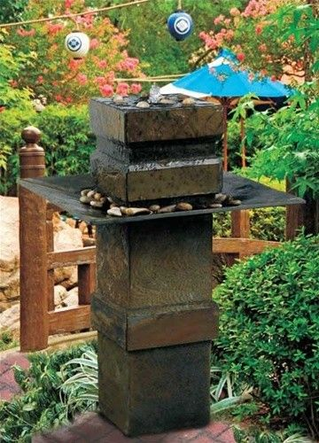 Cubist Outdoor Garden Water Fountain Will Enhance Your Healthy Well Being  With Its Peaceful And Serene