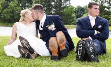'Heartbroken' Best Man Gatecrashes Bride And Groom's Wedding Photos And It's Comedy Gold | HuffPost UK