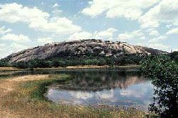 Enchanted Rock is an awesome spot for hiking. The huge mountain is made entirely of pink granite, and the views at the top make it well worth the climb.