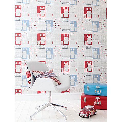 Buy Harlequin Wallpaper, Brighton 70512, Red / Blue Online at johnlewis.com