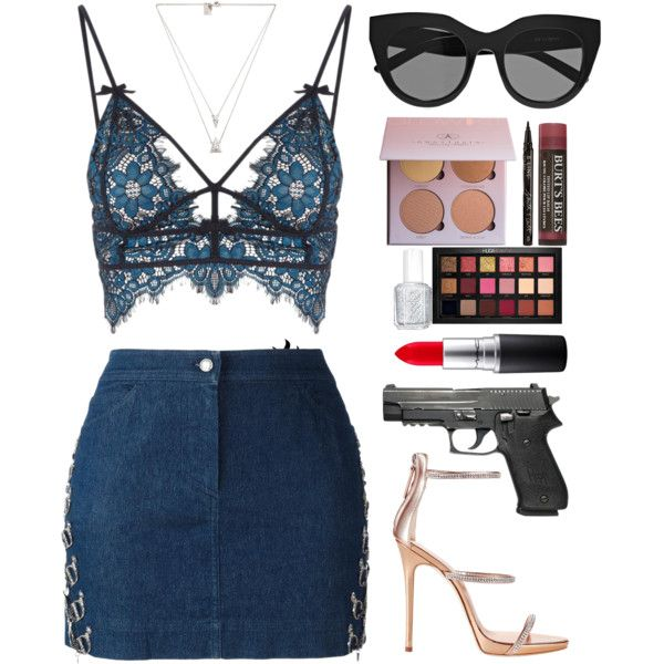 A fashion look from January 2017 by zzeelleestyles featuring Christian Dior, For Love & Lemons, Giuseppe Zanotti, Luv Aj, Le Specs, Huda Beauty, Smith & Cult, M...